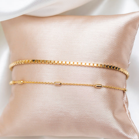 Double Up Cubed Chain Bracelet
