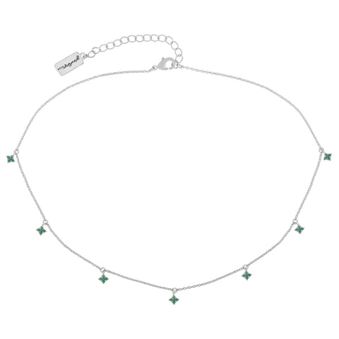 Emerald Diamond Dangle Choker