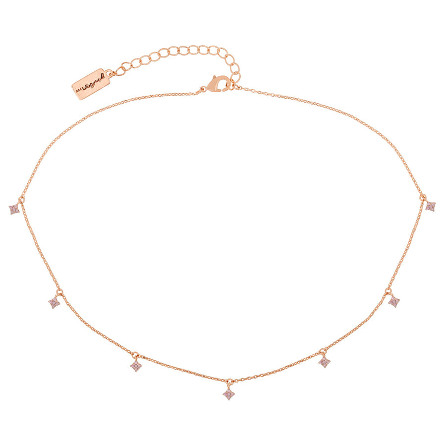 Baby Pink Diamond Dangle Choker