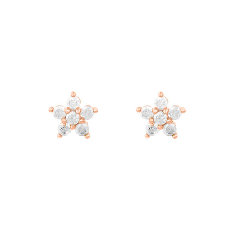 Teeny Tiny Pastel Star Studs : Milky