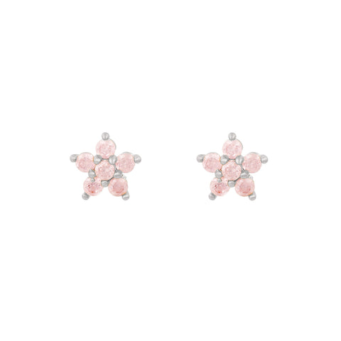 Teeny Tiny Pastel Star Studs : Pink