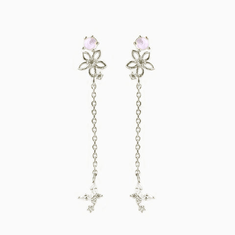 Mari Floral Dangle Earrings