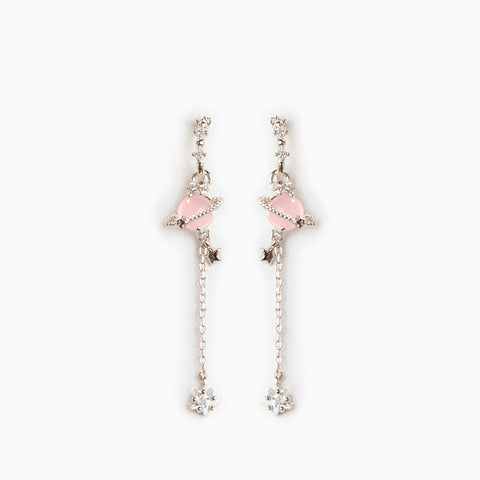 Pink Jupiter Dangle Earrings