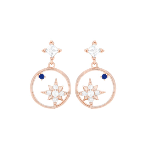 North Star Sapphire Earrings