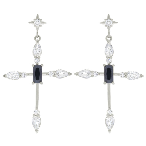 Bella Cross Earrings