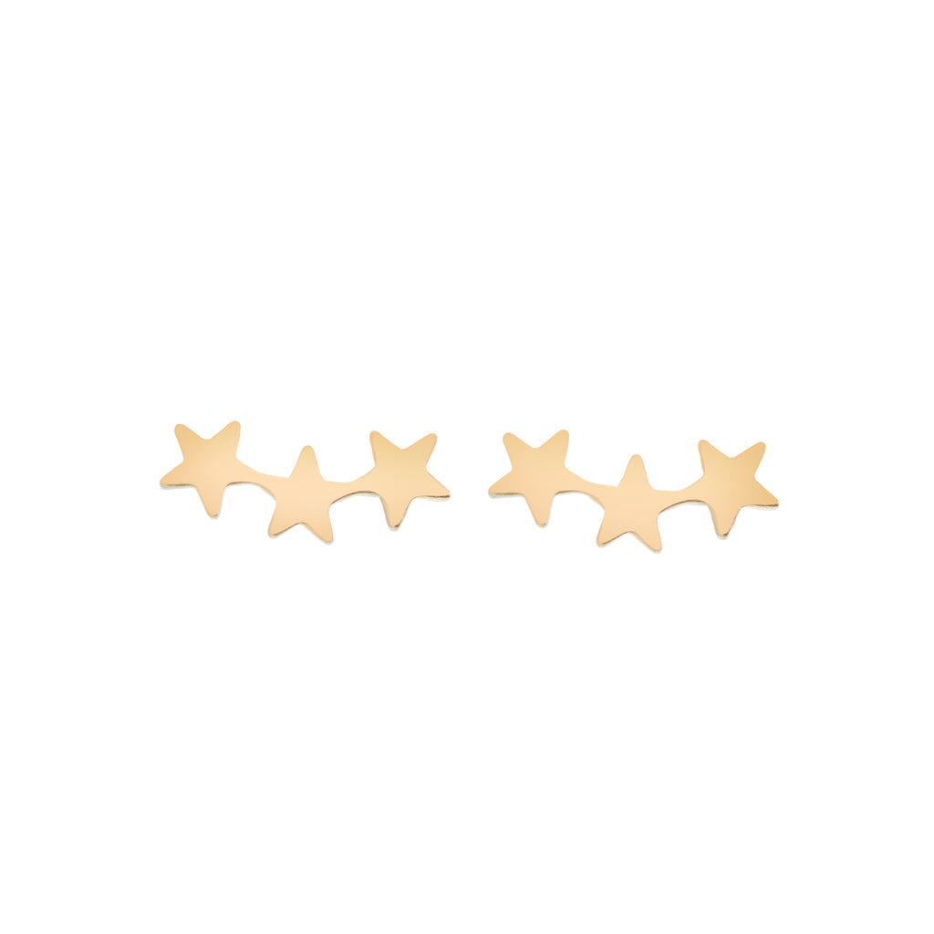 Star Crawler Earrings : Gold (back order)