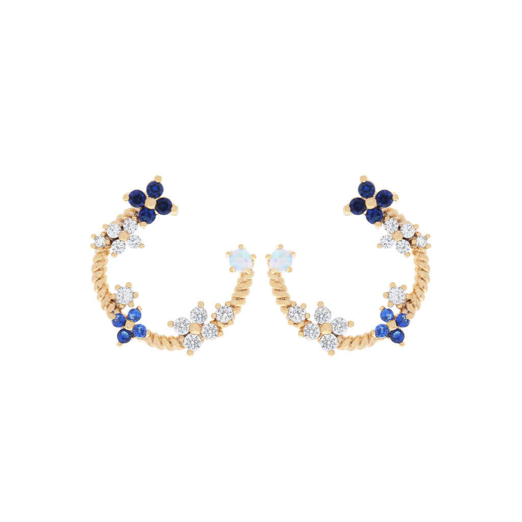 Fleurette Earrings : Gold