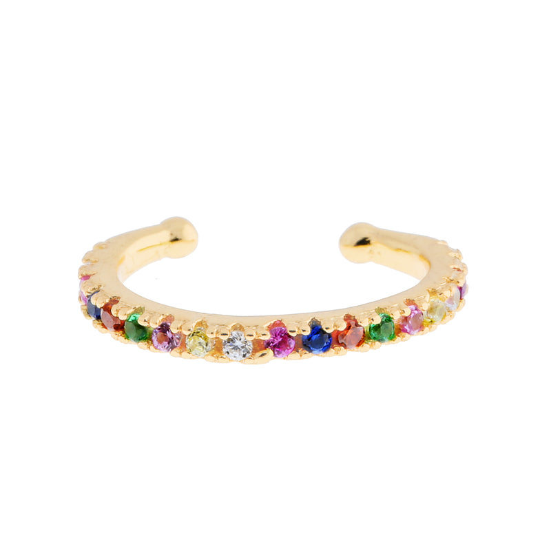 Rainbow Ear Cuffs : Gold