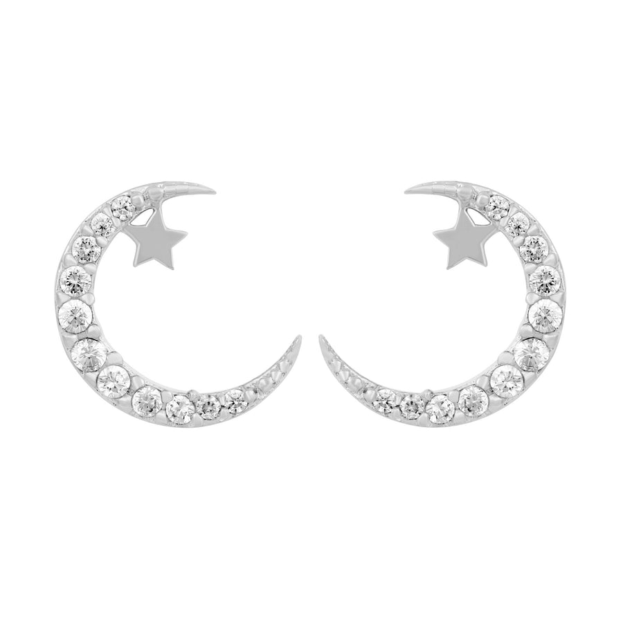 Half Moon Baby Star Earrings