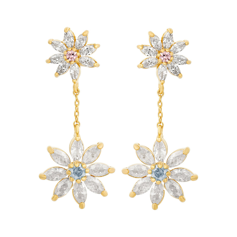 Dazzling Daisy Dangle Earrings