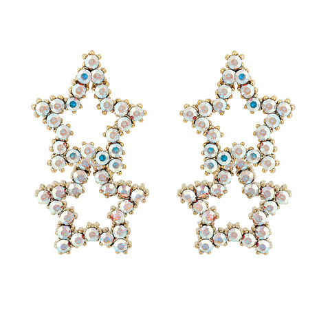 Star Sparkler Earrings : Multi