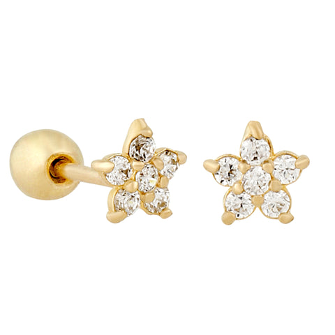 14k Fine Star Single Stud