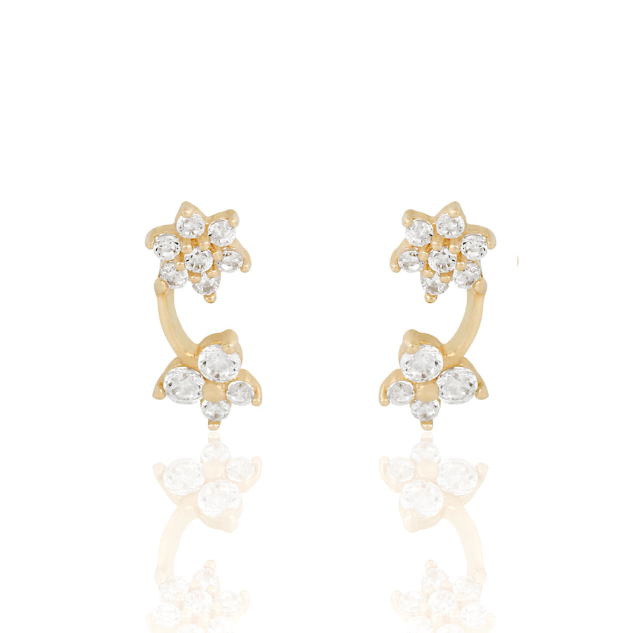 14k Fine Garden Party Stud Earrings