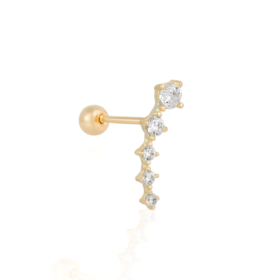 14k Fine Kite Single Stud