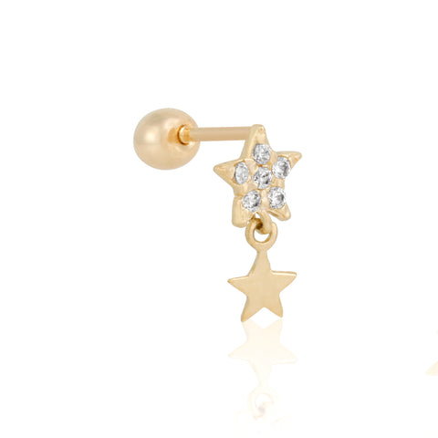 Fine Star Power Single Stud