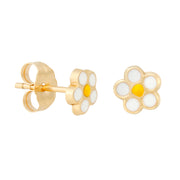 14k Fine Daisy Earrings