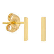 14k Fine Bar Stud Earrings