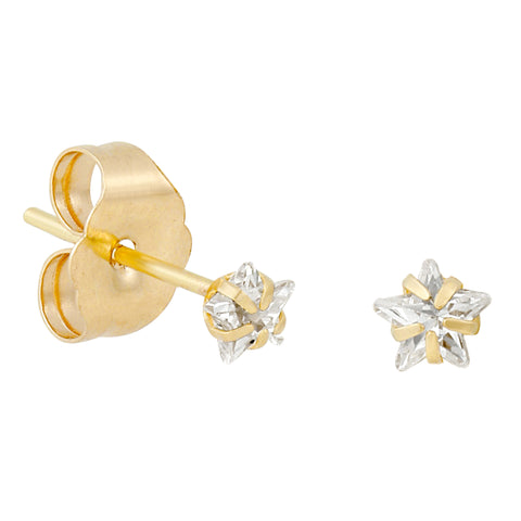 14k Fine Teeny Tiny Bling Star Studs