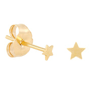 14k Fine Teeniest Star Stud Earrings