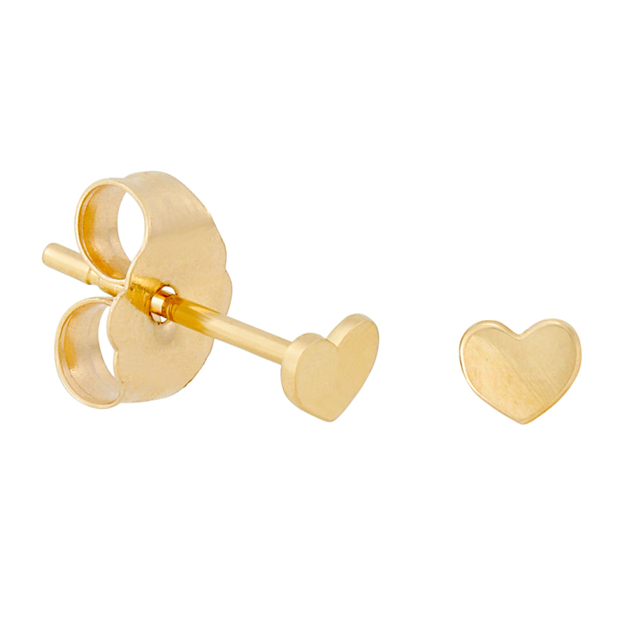 14k Fine Teeniest Heart Stud Earrings