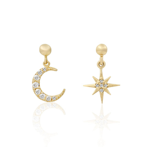 10k Fine Sparkling Sky Earrings
