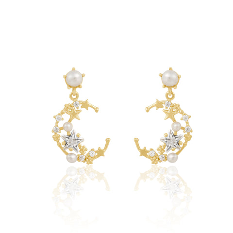 Fine Pearly Moonlight Earrings