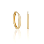 14k Fine 13mm Mini Hoops