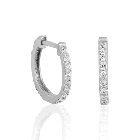 14k Fine Glam CZ Mini Hoops
