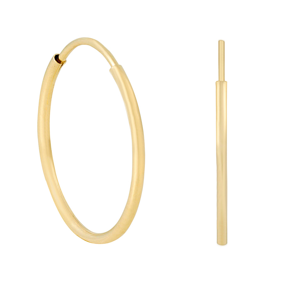 14k Fine Endless Gold Hoops