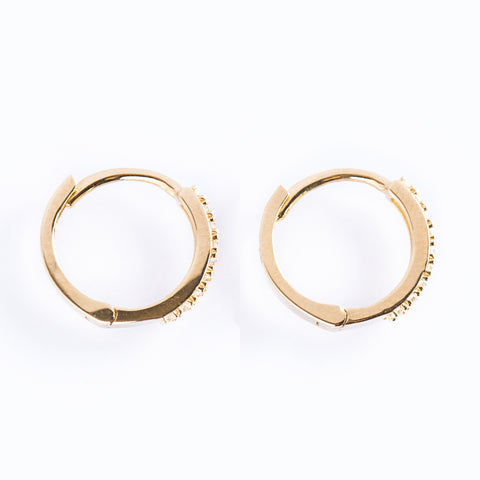 14k Fine 12mm Cubic Hoops