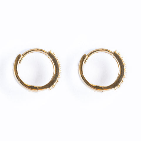 14k Fine 14mm Cubic Hoops