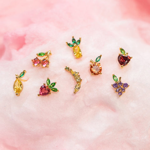 Tropical Fruit Basket Stud Set
