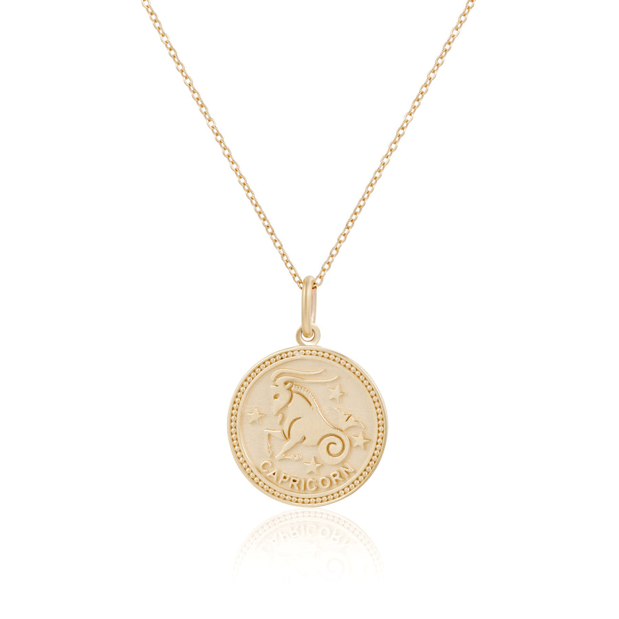 14k Fine Zodiac Necklace