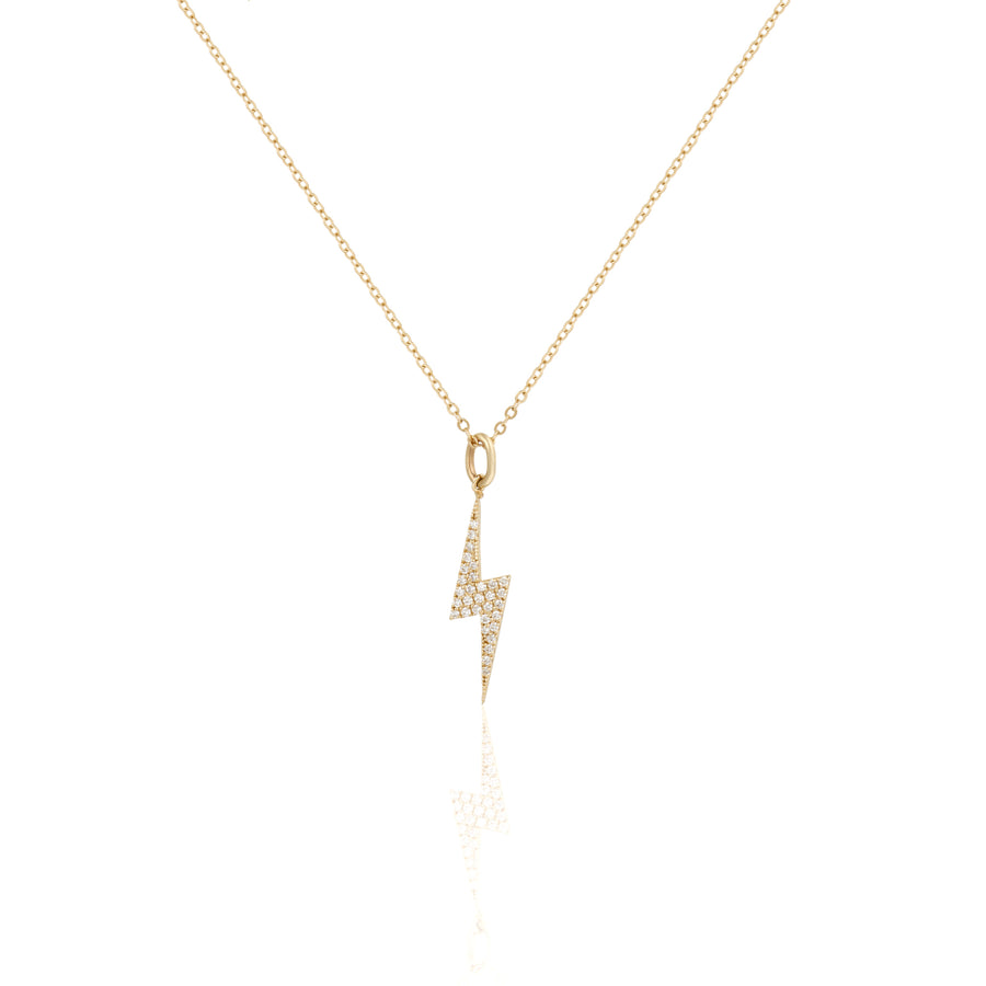 14k Fine Lightning Bolt Diamond Necklace