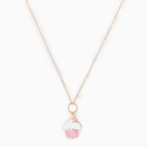 14k Fine Cupcake Necklace