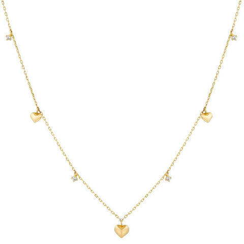 14k Fine Chubby Heart Necklace