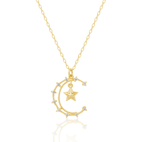 Fine Heavenly Moon Necklace