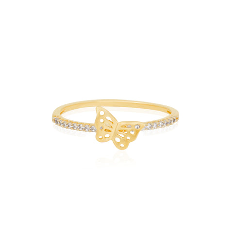 Fine Cutout Butterfly Ring