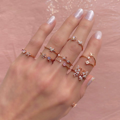 Bloom & Fly Ring Set