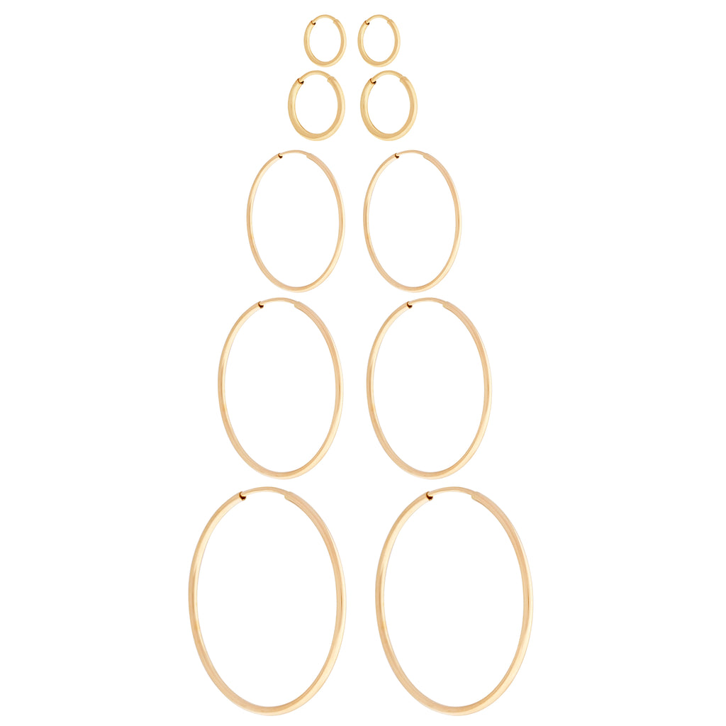 14K GF 20mm Endless Hoops : Gold
