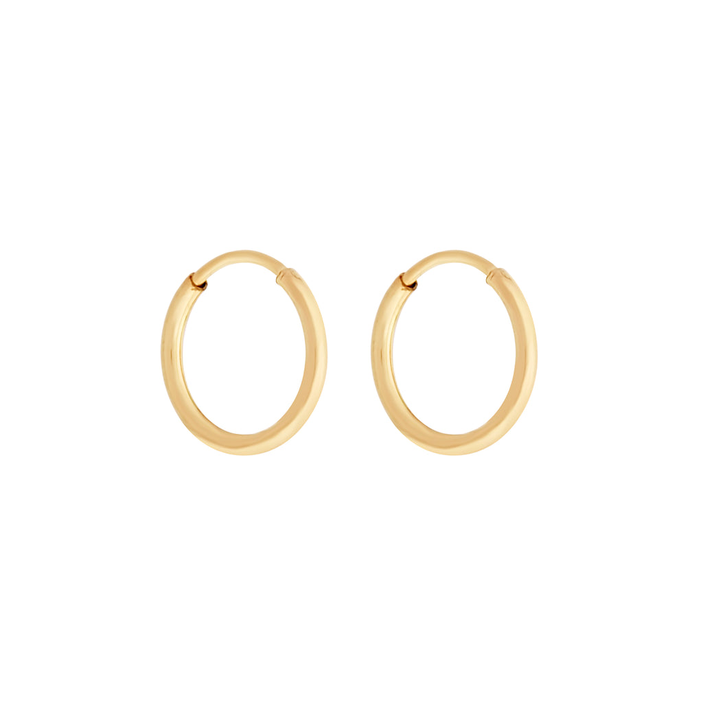14K GF 30mm Endless Hoops : Gold