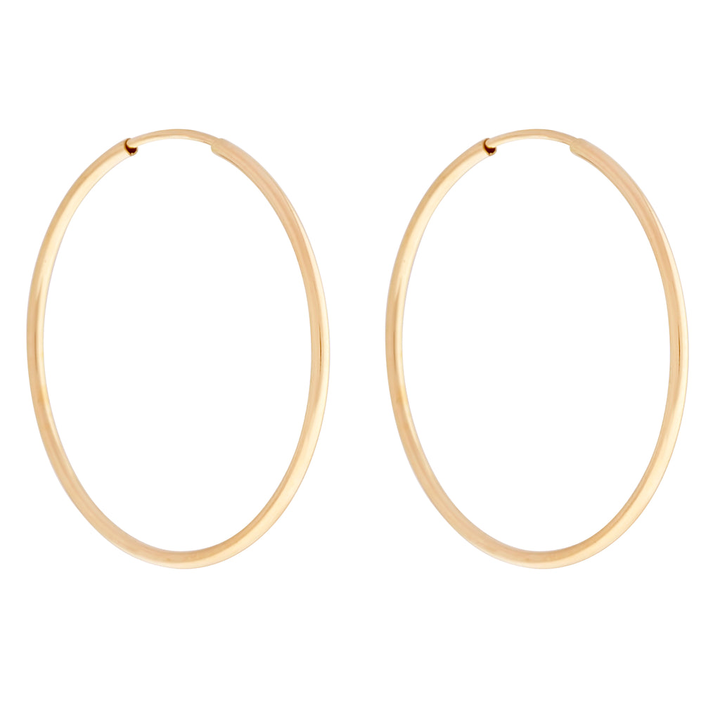 14K GF 50mm Endless Hoops : Gold