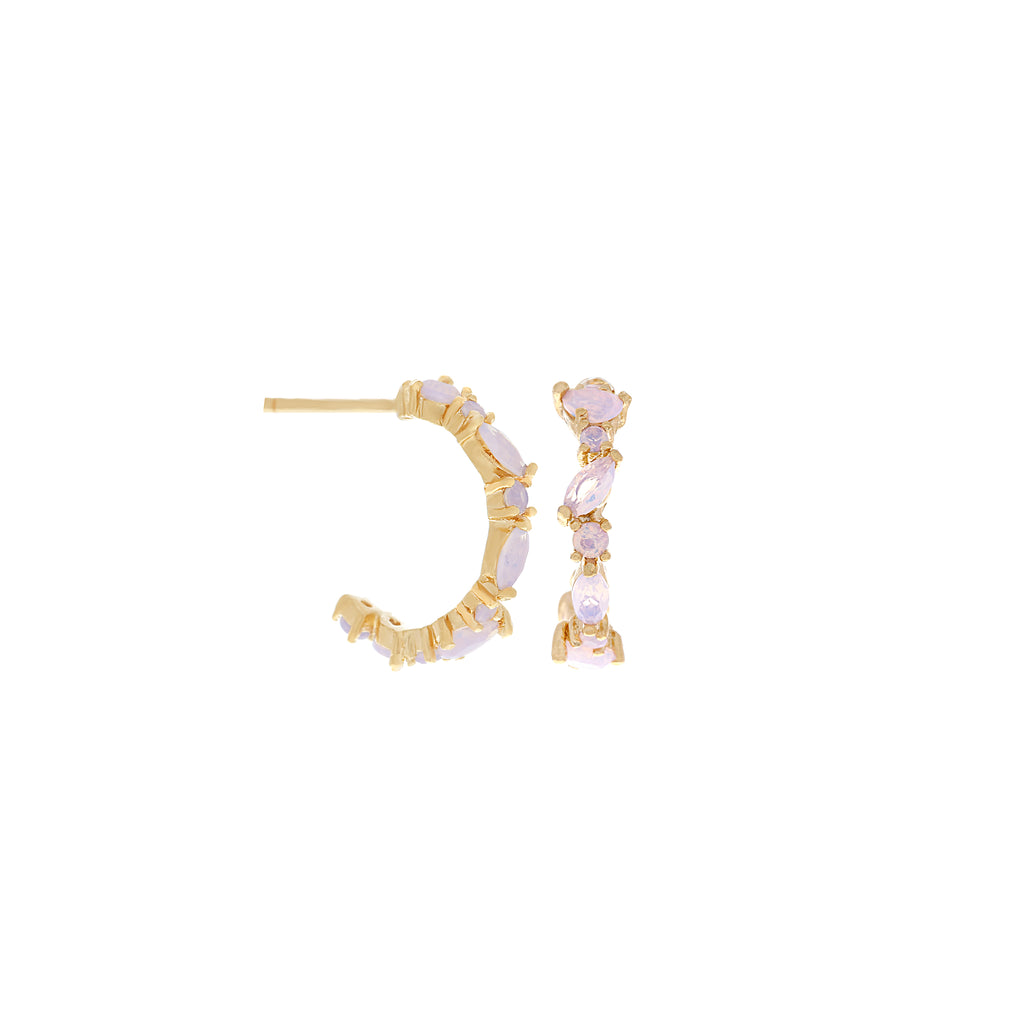 Mini Lily Hoops : Gold