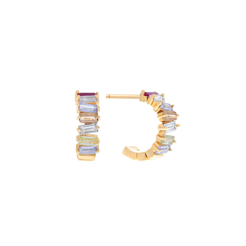 Candybar Mini Hoops : Gold