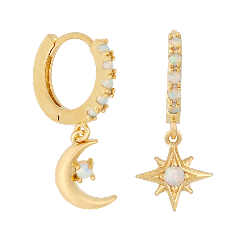 Starry Night Mini Hoops : Gold