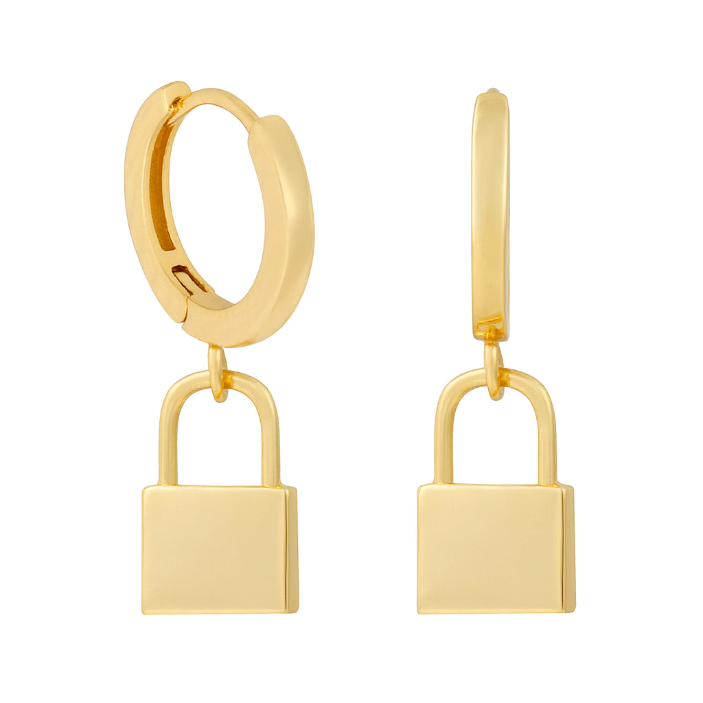 Mini Lock Huggie Hoops