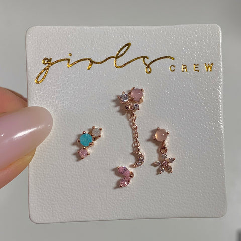 Pink Paradise Earring Set
