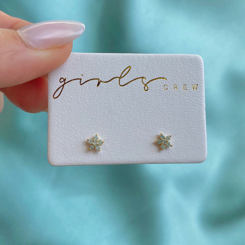 Teeny Tiny Pastel Star Studs : Mint