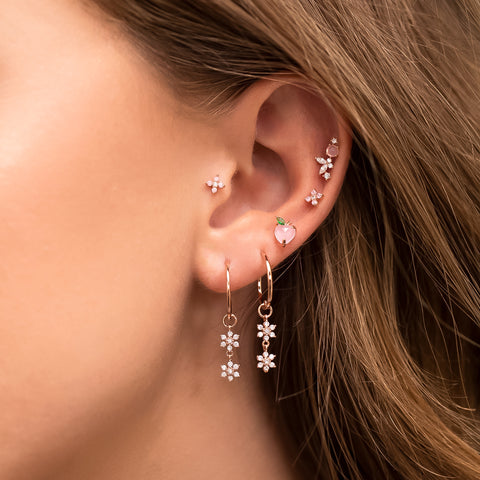 Just Peachy Piercing Style Earring