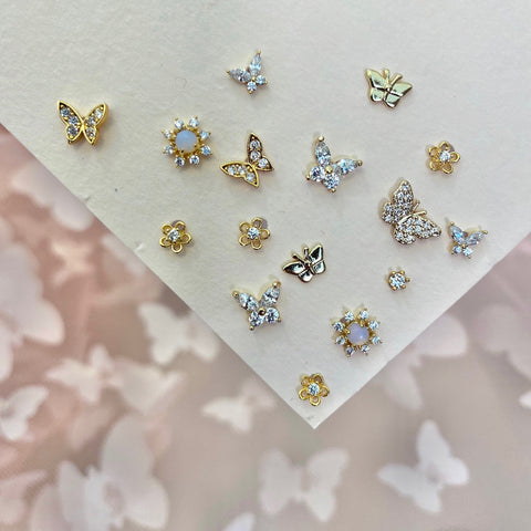 Butterfly Party Stud Set